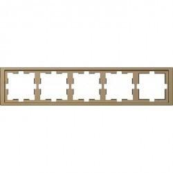 Рамка 5 постов Schneider Electric MERTEN D-LIFE, песочный, MTN4050-6533