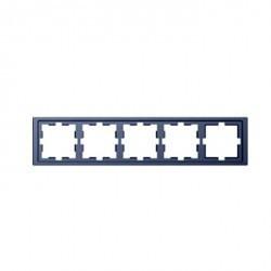 Рамка 5 постов Schneider Electric MERTEN D-LIFE, нержавеющая сталь, MTN4050-6536