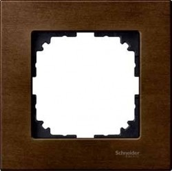 Рамка 1 пост Schneider Electric MERTEN M-ELEGANCE, орех, MTN4051-3473