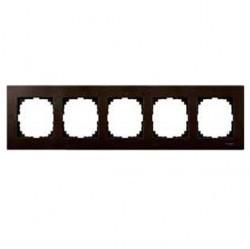 Рамка 5 постов Schneider Electric MERTEN M-ELEGANCE, венге, MTN4055-3471