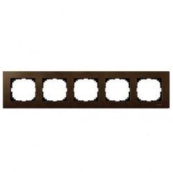 Рамка 5 постов Schneider Electric MERTEN M-ELEGANCE, орех, MTN4055-3473