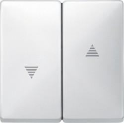 Клавиша для жалюзийного выключателя Schneider Electric MERTEN SYSTEM DESIGN, белый, MTN411519