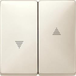 Клавиша для жалюзийного выключателя Schneider Electric MERTEN SYSTEM DESIGN, бежевый блестящий, MTN411544