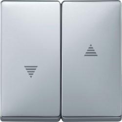 Клавиша для жалюзийного выключателя Schneider Electric MERTEN SYSTEM DESIGN, алюминий, MTN411560