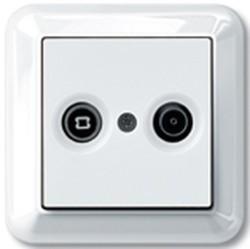 Розетка TV-FM Schneider Electric коллекции Merten, оконечная, белый, MTN4122-1219