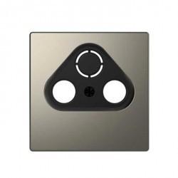 Накладка на розетку телевизионную Schneider Electric MERTEN D-LIFE, никель, MTN4123-6050