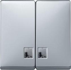 Клавиша двойная с линзами Schneider Electric MERTEN SYSTEM DESIGN, алюминий, MTN413560