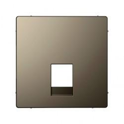 Накладка на розетку информационную Schneider Electric MERTEN D-LIFE, никель, MTN4215-6050