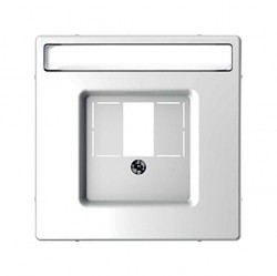 Накладка на мультимедийную розетку Schneider Electric MERTEN D-LIFE, белый лотос, MTN4250-6035