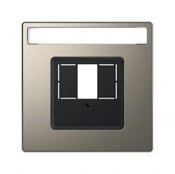 Накладка на розетку информационную Schneider Electric MERTEN D-LIFE, никель, MTN4250-6050