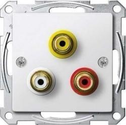 Аудио-розетка Schneider Electric SYSTEM M, белый, MTN4351-0319