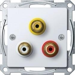 Аудио-розетка Schneider Electric SYSTEM M, белый, MTN4351-0325