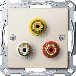 Аудио-розетка Schneider Electric SYSTEM M, бежевый, MTN4351-0344