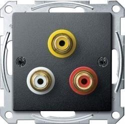 Аудио-розетка Schneider Electric SYSTEM M, антрацит, MTN4351-0414