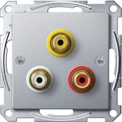 Аудио-розетка Schneider Electric SYSTEM M, алюминий, MTN4351-0460