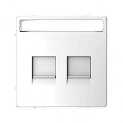 Накладка на розетку информационную Schneider Electric MERTEN D-LIFE, белый лотос, MTN4564-6035