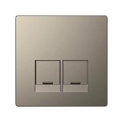 Накладка на розетку информационную Schneider Electric MERTEN D-LIFE, никель, MTN4572-6050