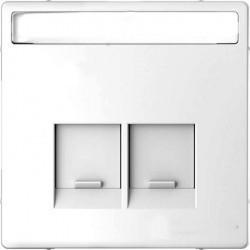 Накладка на розетку информационную Schneider Electric MERTEN D-LIFE, белый лотос, MTN4574-6035