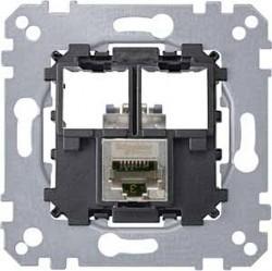 Механизм розетки 1xRJ45 Cat.5 Schneider Electric коллекции Merten, MTN4575-0011