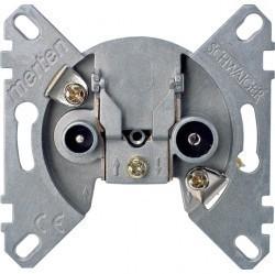 Механизм розетки TV-FM-SAT Schneider Electric коллекции Merten, проходная, MTN466098