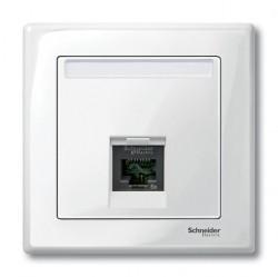 Накладка на розетку информационную Schneider Electric MERTEN SYSTEM M, полярно-белый, MTN469819