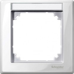 Рамка 1 пост Schneider Electric MERTEN M-SMART, полярно-белый, MTN470119