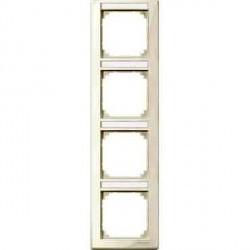 Рамка 4 поста Schneider Electric MERTEN M-SMART, вертикальная, бежевый блестящий, MTN470444