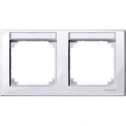 Рамка 2 поста Schneider Electric MERTEN M-SMART, горизонтальная, активно-белый, MTN471225
