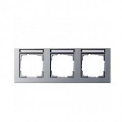 Рамка 3 поста Schneider Electric MERTEN M-SMART, горизонтальная, бежевый блестящий, MTN471344
