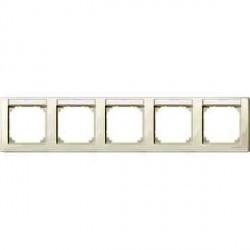 Рамка 5 постов Schneider Electric MERTEN M-SMART, горизонтальная, бежевый блестящий, MTN471544