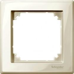 Рамка 1 пост Schneider Electric MERTEN M-SMART, бежевый блестящий, MTN478144