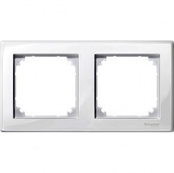 Рамка 2 поста Schneider Electric MERTEN M-SMART, полярно-белый, MTN478219