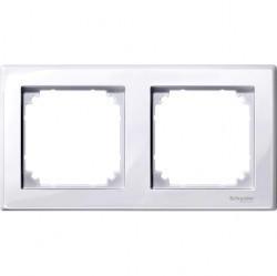 Рамка 2 поста Schneider Electric MERTEN M-SMART, активно-белый, MTN478225