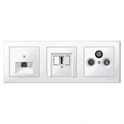 Рамка 3 поста Schneider Electric MERTEN M-SMART, полярно-белый, MTN478319