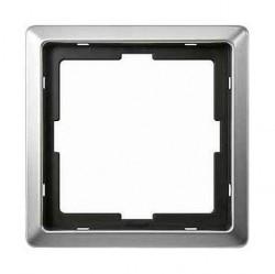 Рамка 1 пост Schneider Electric MERTEN ARTEC, стальной, MTN481146