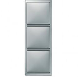 Рамка 3 поста Schneider Electric MERTEN ARTEC, стальной, MTN481346