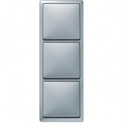 Рамка 3 поста Schneider Electric MERTEN ARTEC, алюминий, MTN481360
