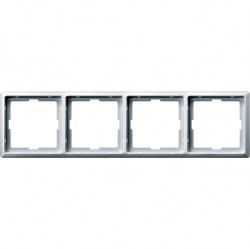 Рамка 4 поста Schneider Electric MERTEN ARTEC, полярно-белый, MTN481419