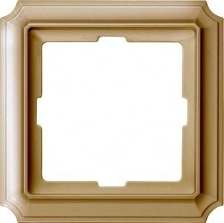 Рамка 1 пост Schneider Electric MERTEN ANTIQUE, бежевый блестящий, MTN483144