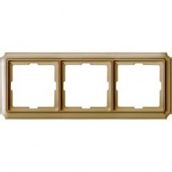 Рамка 3 поста Schneider Electric MERTEN ANTIQUE, бежевый блестящий, MTN483344