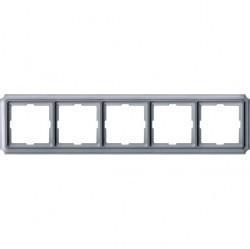 Рамка 5 постов Schneider Electric MERTEN ANTIQUE, полярно-белый, MTN483519