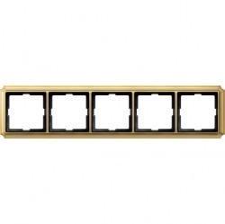Рамка 5 постов Schneider Electric MERTEN ANTIQUE, блестящая латунь, MTN483521