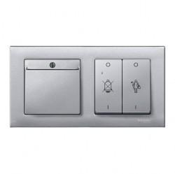 Рамка 2 поста Schneider Electric MERTEN M-PLAN, алюминий, MTN486260