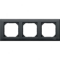 Рамка 3 поста Schneider Electric MERTEN M-PLAN, антрацит, MTN486314