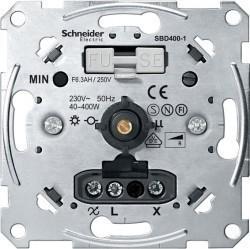 Механизм поворотного светорегулятора-переключателя Schneider Electric Коллекции Merten, 400 Вт, MTN5131-0000
