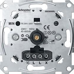 Механизм поворотного светорегулятора-переключателя Schneider Electric Коллекции Merten, 600 Вт, MTN5133-0000