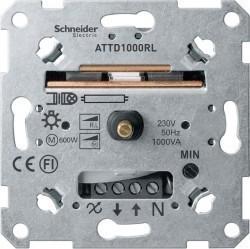 Механизм поворотного светорегулятора Schneider Electric Коллекции Merten, 1000 Вт, MTN5135-0000