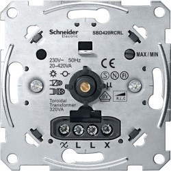 Механизм поворотного светорегулятора-переключателя Schneider Electric Коллекции Merten, 420 Вт, MTN5138-0000