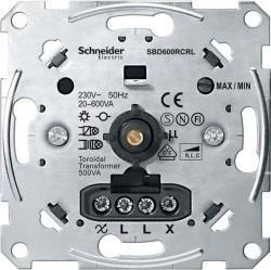 Механизм поворотного светорегулятора-переключателя Schneider Electric Коллекции Merten, 600 Вт, MTN5139-0000