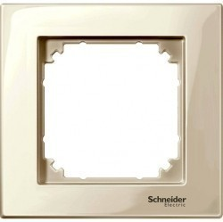 Рамка 1 пост Schneider Electric MERTEN M-PLAN, бежевый блестящий, MTN515144